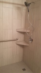 "Waterproof Schluter shower kit with 12""x 24"" field tile"