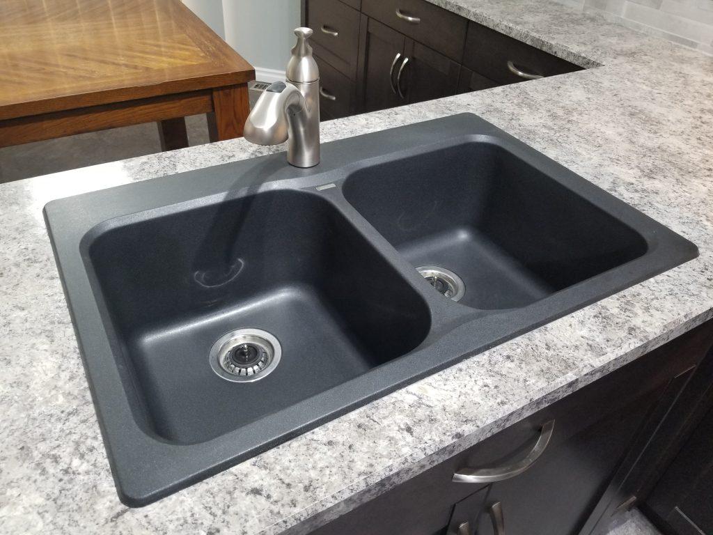 Grey Granite sink installation