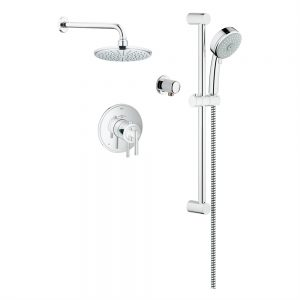 Grohe Timeless THM Dual Function shower kit that also comes with a rain head